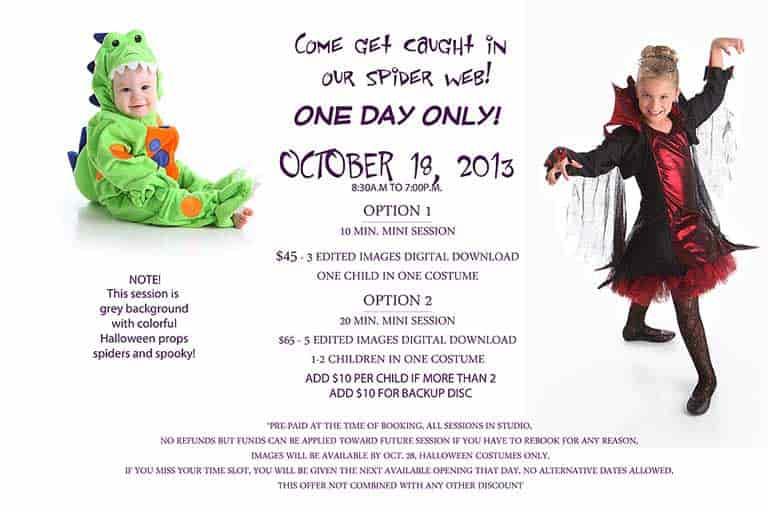 Halloween mini session offer 2013 copy